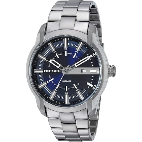 Diesel Man's DZ1768 Armbar Blue Dial Stainless Steel Watch - 1 Size
