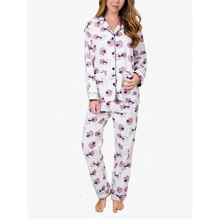 PJ Salvage Women's Sheepy Time Flannel Pajama Set