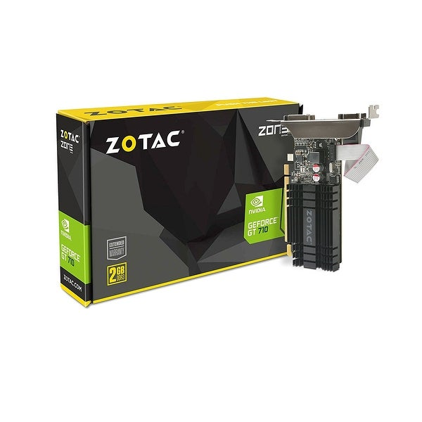 Zotac Geforce Gt 710 2Gb Ddr3 Pci-E2.0 Dl-Dvi Vga Hdmi Passive Cooled Single Slot Low Profile Graphics Card (Zt-71302-20