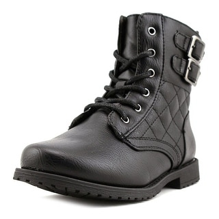 Rachel Shoes Lil Apollo Youth Round Toe Synthetic Black Boot