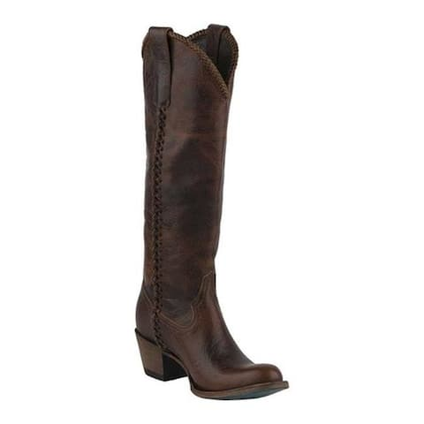 Lane Boots Women's Plain Jane Cowgirl Boot Cognac Oiled Full Grain Leather