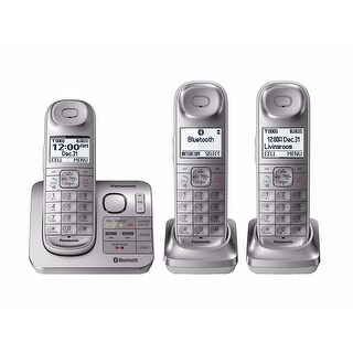Panasonic Link2Cell Bluetooth 3 Cordless Phone System w/ Comfort Shoulder Grip