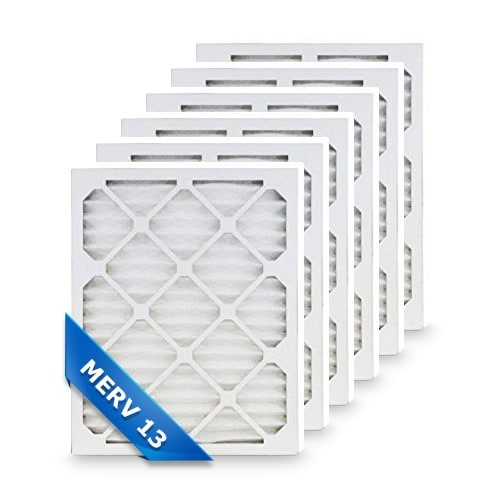 High Quality Pleated Furnace Air Filter 12x30x1 Merv 13 (6-Pack)