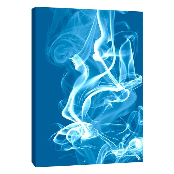 """PTM Images 9-108440 PTM Canvas Collection 10"""" x 8"""" - """"Cyan Smoke"""" Giclee Abstract Art Print on Canvas"""