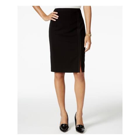 TOMMY HILFIGER Black Knee Length Pencil Skirt Size 0