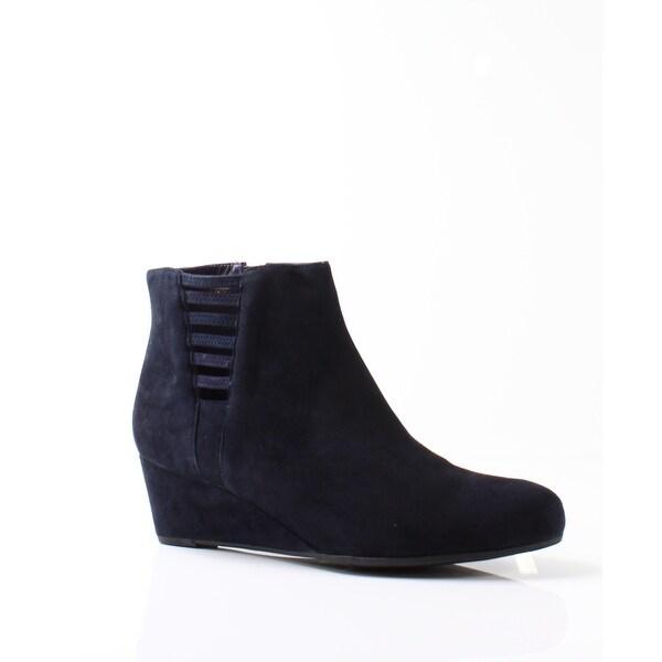 79a4fa6ecdac Shop Vaneli NEW Blue Women s Shoes Size 10.5M Laban Suede Wedge Boot ...