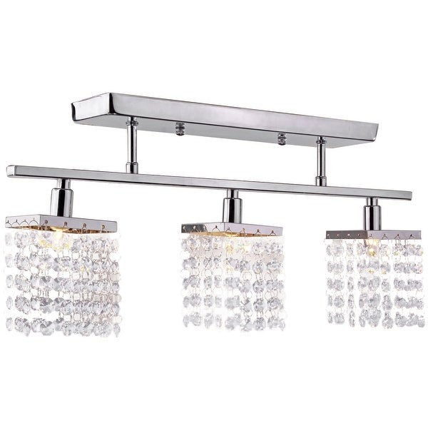 3 Light, Crystal Flush Mount Modern Ceiling Light, Fixture