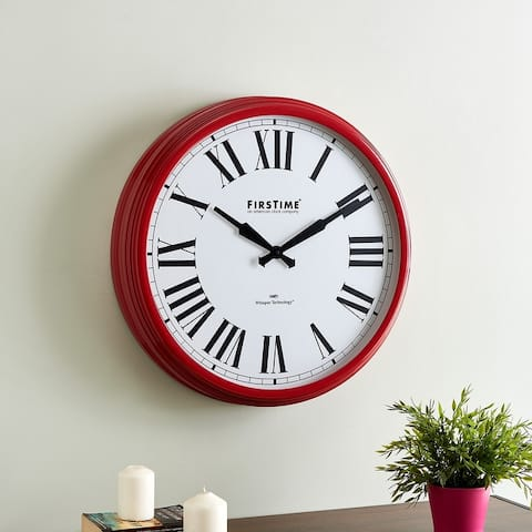 FirsTime & Co.® Hamilton Whisper Clock, Metal, 22 x 3.75 x 22 in, American Designed - 22 x 3.75 x 22 in