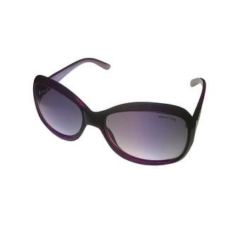 Kenneth Cole Reaction Plastic Purple Rectangle Sunglass Gradient Lens KC1255 81B - Medium