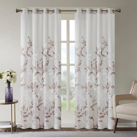 "The Gray Barn Yturria Grey Printed Curtain Panel - 84"" Panel"