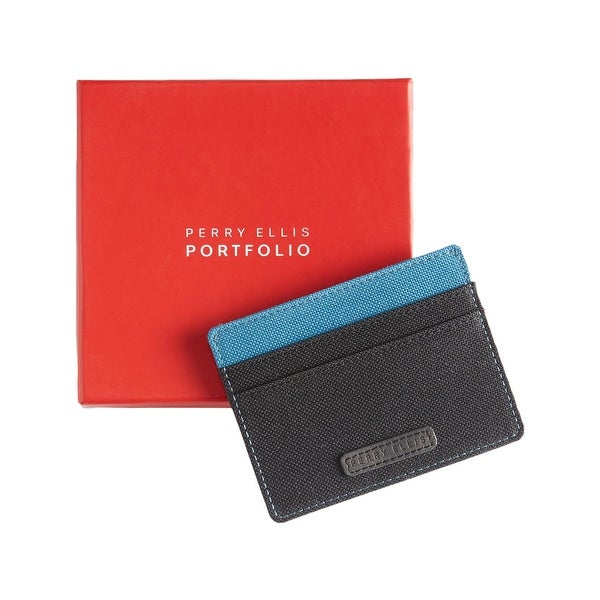 Perry Ellis Portfolio Mens Card Case Colorblock Five Pocket - o/s