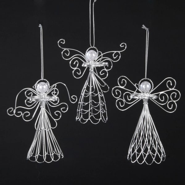 "Club Pack of 12 Seasons of Elegance Wire and Pearl Angel Christmas Ornaments 5"". Opens flyout."