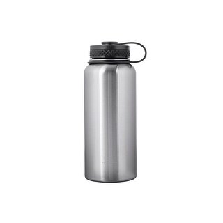 Monoprice Pure Outdoor Vacuum Sealed Wide-Mouth Water Bottle - 32 fl. oz. - Stainless Steel