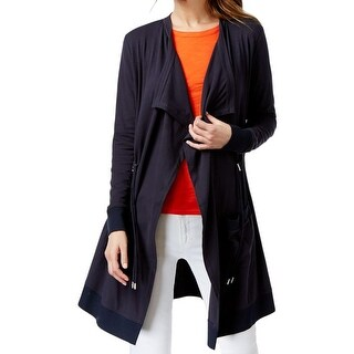 MICHAEL Michael Kors Womens Cardigan Sweater Cinched Waist Open Front
