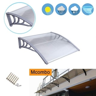 MCombo 40×40 FT Window Awning Polycarbonate Cover - 38.6(W)x 39(L) x 11(H) (White)