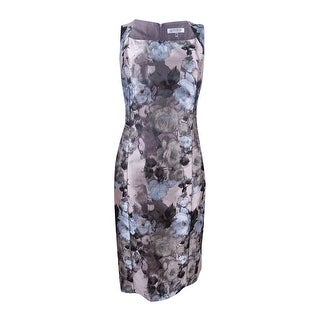 Kasper Women's Plus Size Floral-Print Sheath Dress - antique petal multi