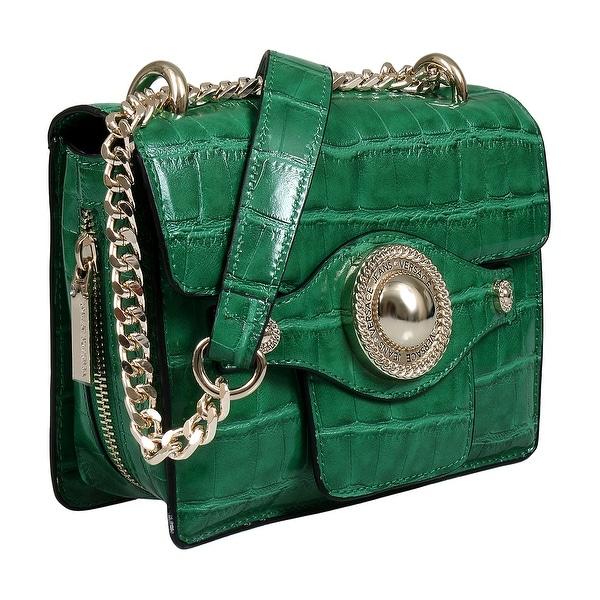 Shop Versace EE1VSBBO4 E126 Green Shoulder Bag - 7.75-6-2.75 - Free ... f9e15b7e00
