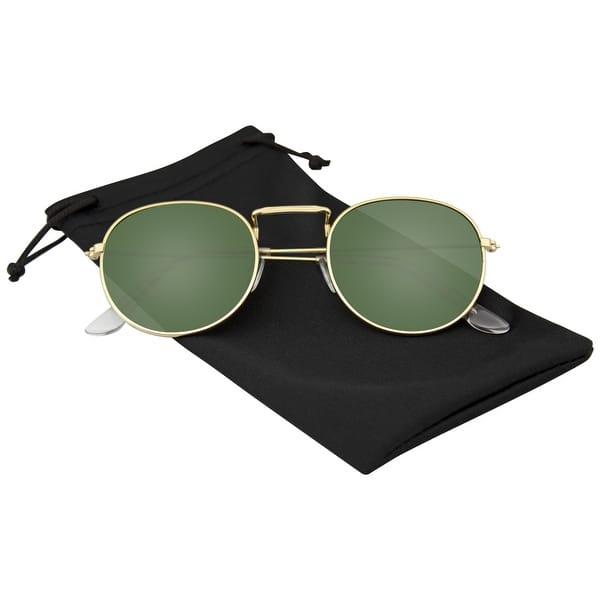 Mirrored Classic Round Retro Lens Fashion Design Women and Men Sunglasses