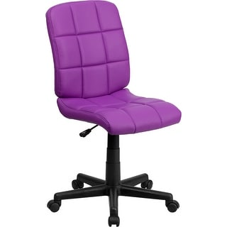 Aberdeen Mid-Back Purple Quilted Vinyl Swivel Home/Office Task Chair