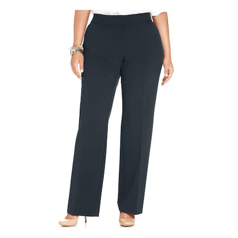 JM COLLECTION Womens Navy Wear To Work Pants Size 20W