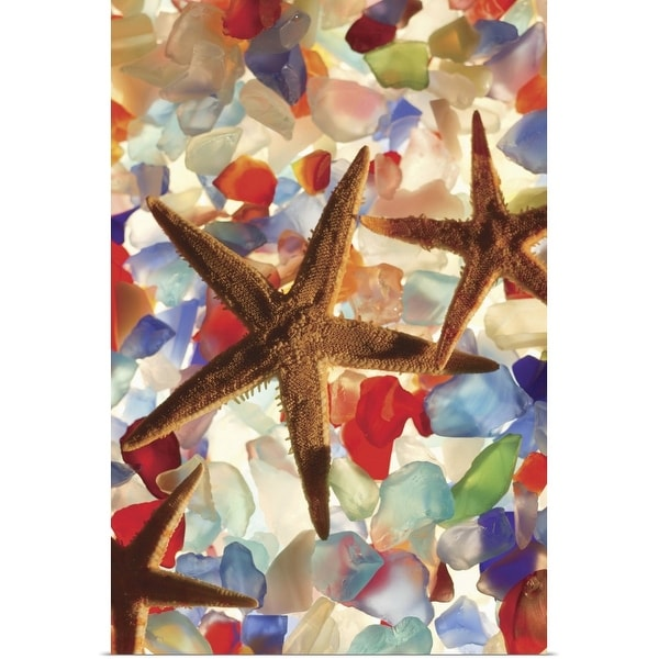 """Starfish and colored stones"" Poster Print"