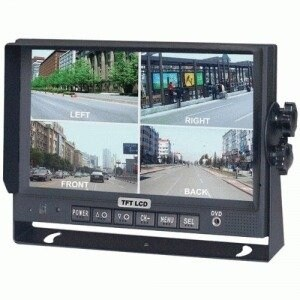 Crimestopper CSPSV8900QMIIB Crime Stopper7 inch LCD Car Display - Black - with Built-in Quad View