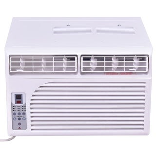 Costway 6K BTU White Compact 115V Window-Mounted Air Conditioner With Remote Control