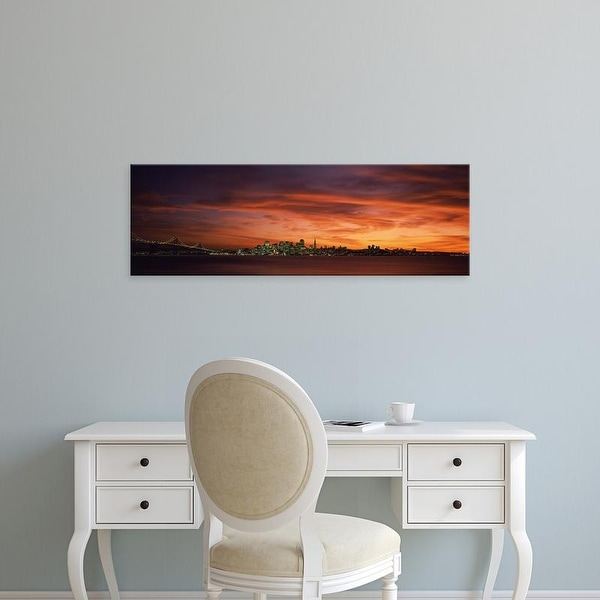 Easy Art Prints Panoramic Images's 'Buildings in a city, Treasure Island, San Francisco, California' Premium Canvas Art
