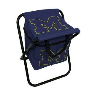University of Michigan Wolverines Logo Portable Folding Cooler Seat - Blue
