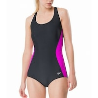 f12b82fee1f38 Shop Speedo Blue Purple Girl's Size 16 One-Piece Mesh Colorblock ...