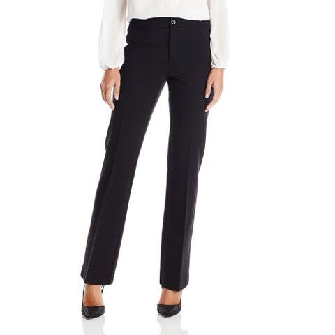 NYDJ Blue Womens Size 4 Michele Trousers in Ponte Knit Dress Pants