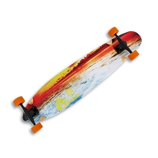 42 inch Complete Cruiser Kicktail Longboard with Sunset Beach Graphics - Multicolored