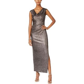 Connected Apparel Womens Petites Cocktail Dress Metallic Side Slit|https://ak1.ostkcdn.com/images/products/is/images/direct/7ee4f998878e44388134d7b471f6bd9ff1c193fd/Connected-Apparel-Womens-Petites-Cocktail-Dress-Metallic-Side-Slit.jpg?impolicy=medium