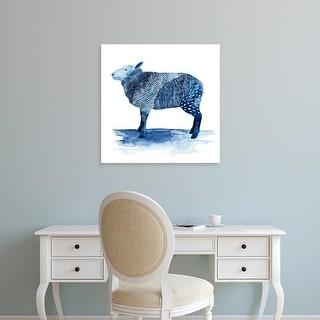 Easy Art Prints Grace Popp's 'Cobalt Farm Animals III' Premium Canvas Art