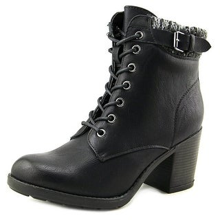 Mia George Women Round Toe Synthetic Black Ankle Boot