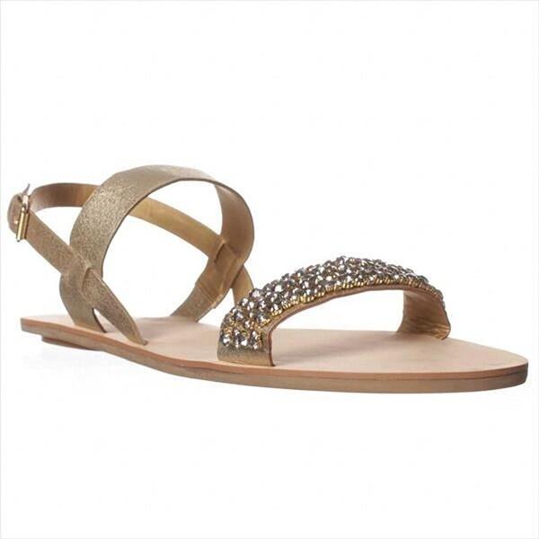 DV by Dolce Vita Vysta Flat Sandals - Gold Metallic Stella - 13