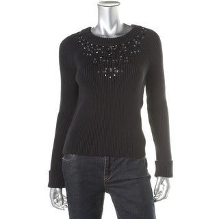 Kate Spade Womens Cotton Embellished Pullover Sweater