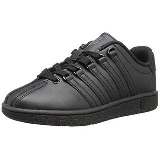 K-Swiss Boys Classic Vintage Faux Leather Tennis Shoes - 2.5 wide (e)