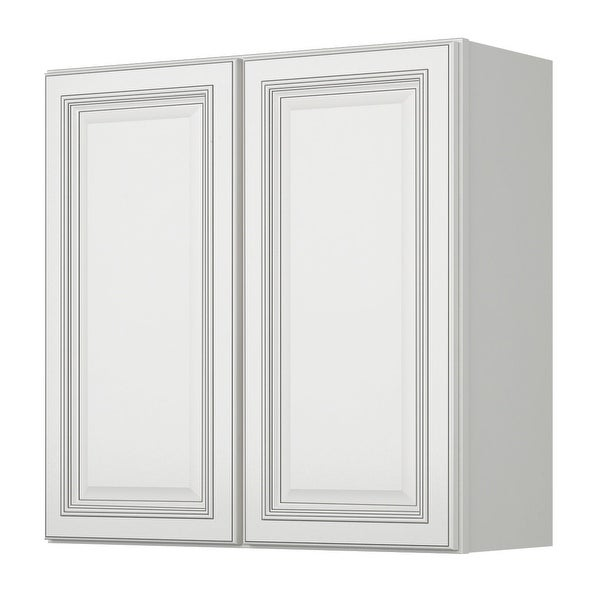 Sunny Wood Slw3030 A Sanibel 30 X Double Door Wall Cabinet Off White With Charcoal Glaze Free Shipping Today 16907116