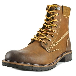 Bass Brodie Men Round Toe Leather Brown Work Boot