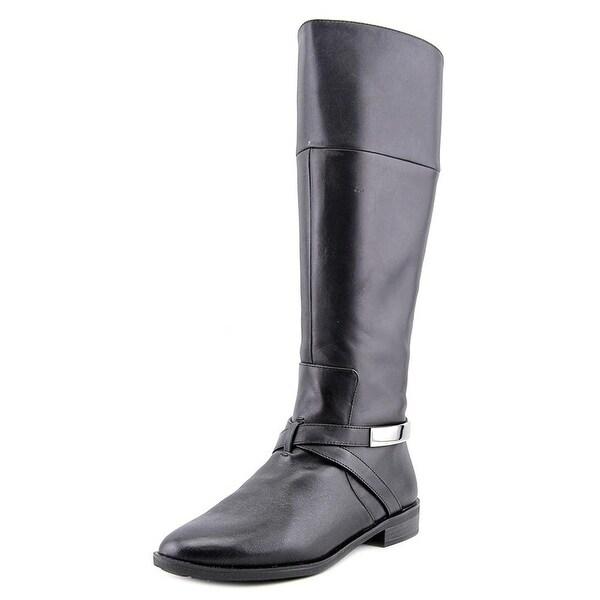 Alfani Womens EGILA Leather Almond Toe Knee High Riding Boots