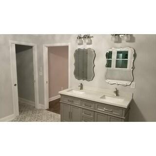 Abbyson Olivia Rectangle Wall Mirror - Silver
