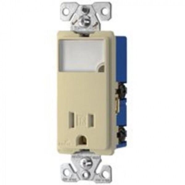 shop cooper wiring tr7735v box single pole night light receptacle cooper wiring tr7735v box single pole night light receptacle ivory