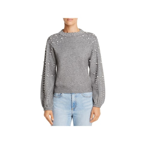 Lucy Paris Womens Sweater Embellished Pearl