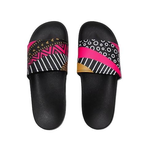 Fun Mismatched slide sandals