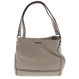 Franco Sarto Womens Brielle Shoulder Handbag Faux Leather Multi Sectional - LARGE