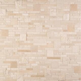 MSI CREMA-OPUS  Crema Marfil - Block Random Mosaic Wall Tile - Polished Visual - Sold by Carton (10 SF/Carton) - Beige