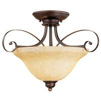 Millennium Lighting 1052 Chateau 2-Light Semi-Flush Ceiling Fixture - Rubbed Bronze - N/A