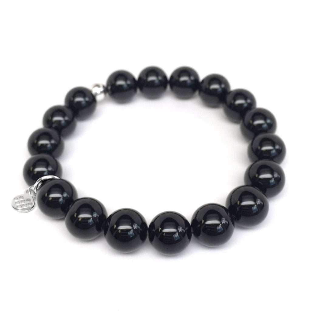 "Black Onyx Eternal 7"" Bracelet - Thumbnail 0"