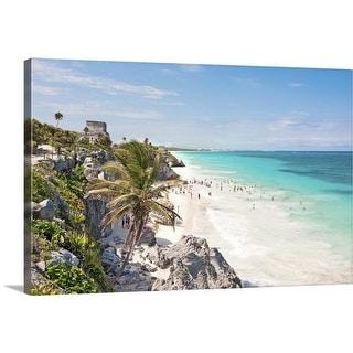 """Tulum beach"" Canvas Wall Art"